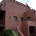 Adobe House At Red Rocks Colorado by Merja Waters