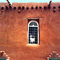 Adobe Wall With Window by Merton Allen