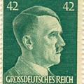 Adolf Hitler 42 Pfennig Stamp Classic Vintage Retro by R Muirhead Art