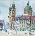 Adolf Hitler Painting Ordensplatzcu by Adolf Hitler
