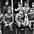 Adolf Hitler With  Fellow Soldiers From The List Regiment  Number Two Circa 1916 by David Lee Guss