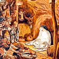 Adoration Of The Shepherds Nativity by Munir Alawi