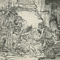 Adoration Of The Shepherds, With Lamp by Rembrandt