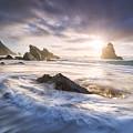 Adraga Surf by Michael Breitung