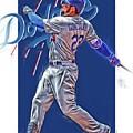 Adrian Gonzalez Los Angeles Dodgers Oil Art by Joe Hamilton