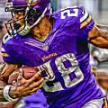 Adrian Peterson Minnesota Vikings Art by Joe Hamilton
