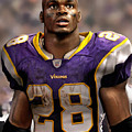 Adrian Peterson Standing by Douglas Petty
