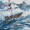 Adrift At Sea by Reed Novotny