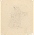 Adult And Two Children by John Flaxman