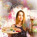 Adult Art Class Painter by Jorgo Photography - Wall Art Gallery