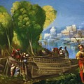 Aeneas And Achates On The Libyan Coast 1520 by Dossi Dosso