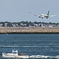 Aer Lingus Landing At Logan Airport by Brian MacLean