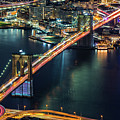 Aerial Brooklyn Bridge by Mihai Andritoiu