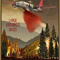 Aerial Firefighters Large Airtanker Bases by Airtanker Art