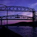 Aerial Lift Bridge At Sundown by Deborah Klubertanz