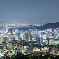 Aerial Night View Of Seoul by Didier Marti
