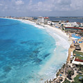Aerial Of Cancun by Bill Bachmann - Printscapes