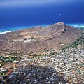 Aerial Of Diamond Head by Peter French - Printscapes