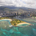 Aerial Of Magic Island by Ron Dahlquist - Printscapes