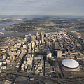 Aerial Of New Orleans Looking East by Tyrone Turner