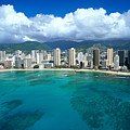 Aerial Of Waikiki by Peter French - Printscapes