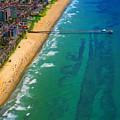 Aerial Over Deerfield Beach by Jeffrey Graves