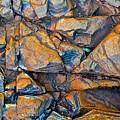 Aerial Rock Abstract by Nicola Morgan