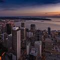 Aerial Seattle Westward View by Mike Reid