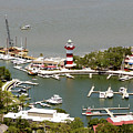 Aerial View Harbour Town Lighthouse In Hilton Head Island by Carol Highsmith
