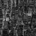 Aerial View Midtown Manhattan Nyc Bw by Susan Candelario