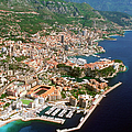 Aerial View Of A City, Monte Carlo, Monaco, France by Medioimages/Photodisc