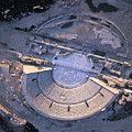 Aerial View Of Ancient Roman Theater by Richard Nowitz