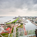 Aerial View Of Famous Havenwelten In Bremerhaven by JR Photography