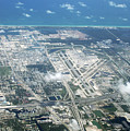 Aerial View Of Fort Lauderdale Airport. Fll by Richard Wareham