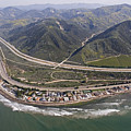 Aerial View Of Highway 1 As It Meets by Rich Reid