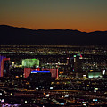 Aerial View Of Las Vegas City by Sv