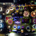 Aerial View Of Norco Fair - Pottstown Pa by Don Valentine