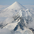 Aerial View Of Shishaldin Volcano by Richard Roscoe