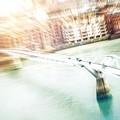 Aerial View Of The Millennium Bridge by Leonardo Patrizi