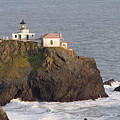 Aerial View Of The Point Bonita Lighthouse California by George Oze