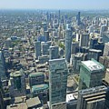 Aerial View Of Toronto Looking North by John Malone