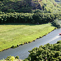 aerial view of Wailua River by Bill Schildge - Printscapes