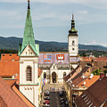 Aerial View Of Zagreb In Croatia by Didier Marti