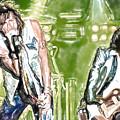Aerosmith Watercolor by Lyriel Lyra