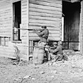 African American Soldiers Aim by Everett