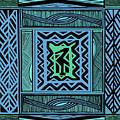 African Blue Bird by Vagabond Folk Art - Virginia Vivier