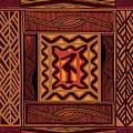 African Collage Rust by Vagabond Folk Art - Virginia Vivier