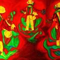 African Dancers by Carole Spandau