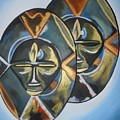 African Double Mask by Patrick Hunt