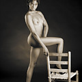 African Nude With Chair 1189.01 by Kendree Miller